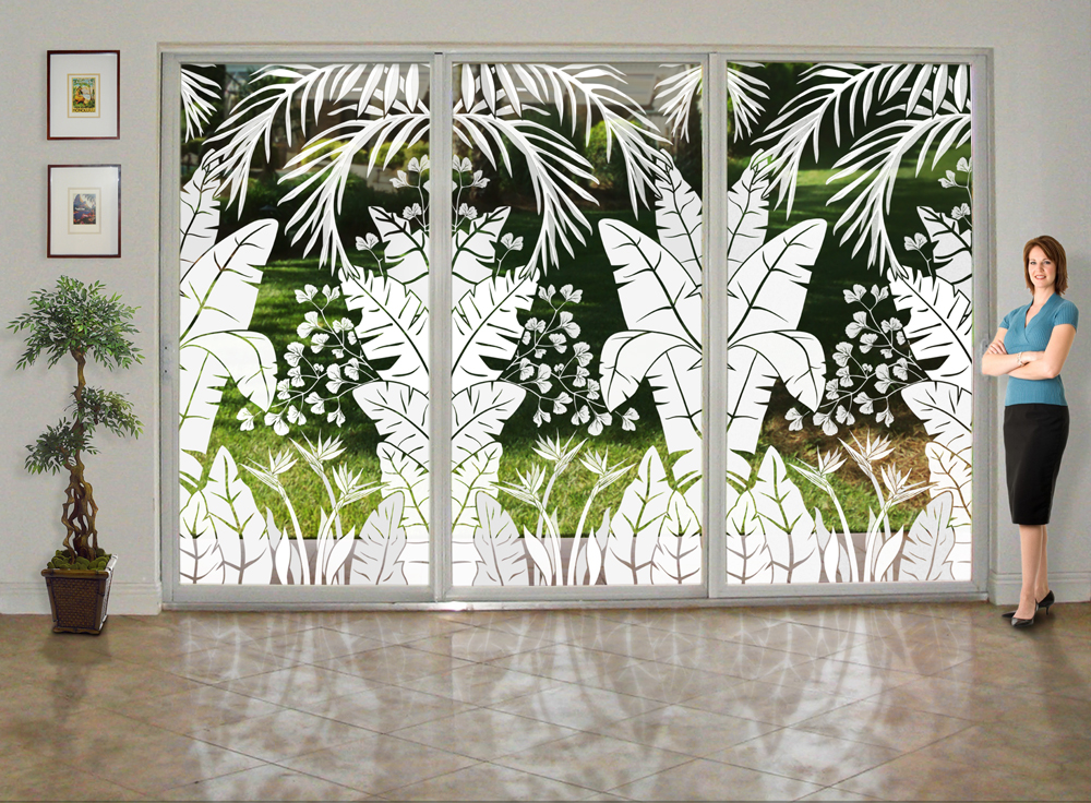 Fun Window Treatments With Etched Glass Window Film